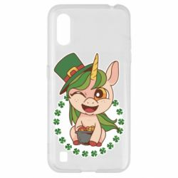 Чехол для Samsung A01/M01 Unicorn patrick day