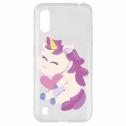 Чехол для Samsung A01/M01 Unicorn with love