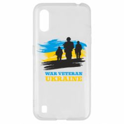 Чохол для Samsung A01/M01 War veteran оf Ukraine