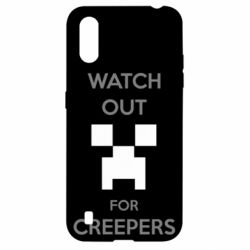 Чехол для Samsung A01/M01 Watch Out For Creepers