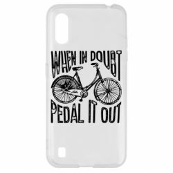 Чохол для Samsung A01/M01 When in doubt pedal it out