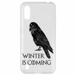 Чохол для Samsung A01/M01 Winter is approaching and crow