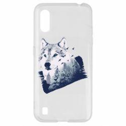 Чехол для Samsung A01/M01 Wolf and forest
