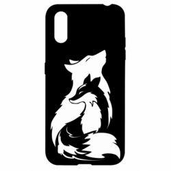 Чехол для Samsung A01/M01 Wolf And Fox
