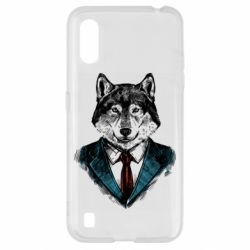 Чехол для Samsung A01/M01 Wolf in costume