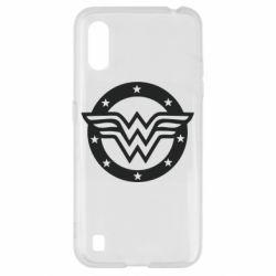Чехол для Samsung A01/M01 Wonder woman logo and stars