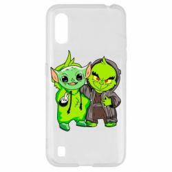 Чехол для Samsung A01/M01 Yoda and Grinch