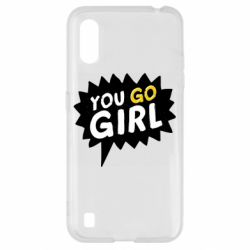 Чехол для Samsung A01/M01 You go girl