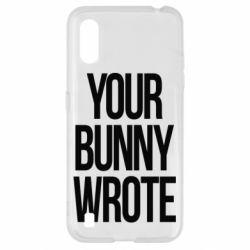 Чохол для Samsung A01/M01 Your bunny wrote