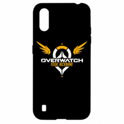 Чехол для Samsung A01/M01 Your Nickname in the game Overwatch