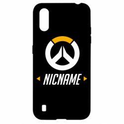 Чехол для Samsung A01/M01 Your Nickname Overwatch