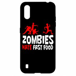 Чохол для Samsung A01/M01 Zombies hate fast food