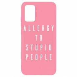 Чохол для Samsung A02s/M02s Allergy To Stupid People