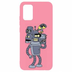 Чохол для Samsung A02s/M02s Bender and the heads of robots