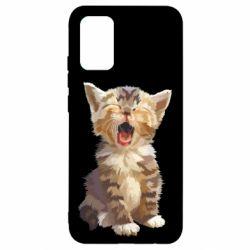 Чохол для Samsung A02s/M02s Cute kitten vector