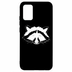 Чохол для Samsung A02s/M02s Cute raccoon face