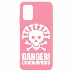 Чохол для Samsung A02s/M02s Danger coronavirus!
