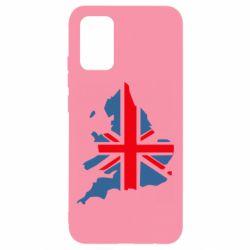 Чехол для Samsung A02s/M02s Флаг Англии