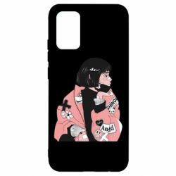 Чохол для Samsung A02s/M02s Girl with a square
