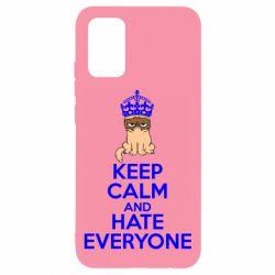 Чехол для Samsung A02s/M02s KEEP CALM and HATE EVERYONE
