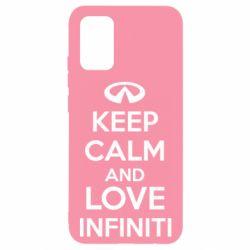 Чехол для Samsung A02s/M02s KEEP CALM and LOVE INFINITI