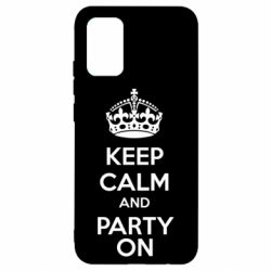 Чехол для Samsung A02s/M02s KEEP CALM and PARTY ON