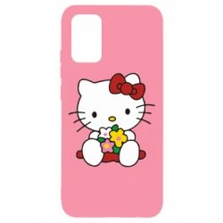Чехол для Samsung A02s/M02s Kitty с букетиком