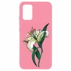Чохол для Samsung A02s/M02s Lily flower
