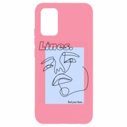 Чохол для Samsung A02s/M02s Lines art find your face