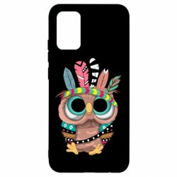 Чохол для Samsung A02s/M02s Little owl with feathers