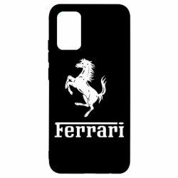 Чехол для Samsung A02s/M02s логотип Ferrari