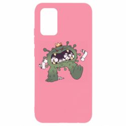 Чохол для Samsung A02s/M02s Monster with a crown and paper