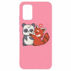 Чохол для Samsung A02s/M02s Panda and fire panda