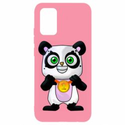 Чохол для Samsung A02s/M02s Panda with a medal on his chest