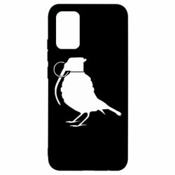 Чехол для Samsung A02s/M02s Птичка с гранатой