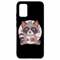 Чохол для Samsung A02s/M02s Raccoon with cookies