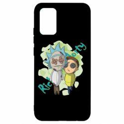 Чохол для Samsung A02s/M02s Rick and Morty voodoo doll