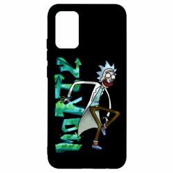 Чохол для Samsung A02s/M02s Rick and text Morty
