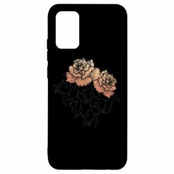 Чохол для Samsung A02s/M02s Roses with patterns