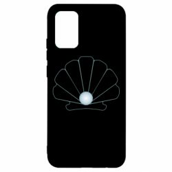 Чохол для Samsung A02s/M02s Shell with a pearl