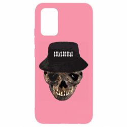 Чохол для Samsung A02s/M02s Skull in hat and text