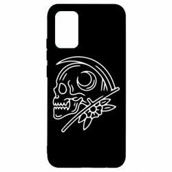 Чохол для Samsung A02s/M02s Skull with scythe