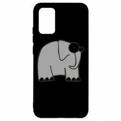 Чехол для Samsung A02s/M02s удивленный слон