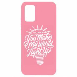 Чохол для Samsung A02s/M02s You know your make my world light up coldplay