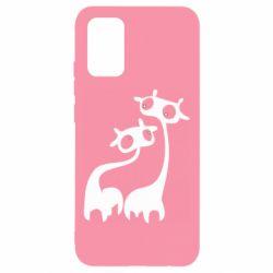 Чохол для Samsung A02s/M02s Жирафи