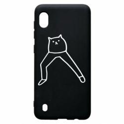 Чохол для Samsung A10 Cat in pants