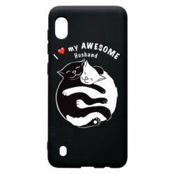 Чехол для Samsung A10 Cats and love
