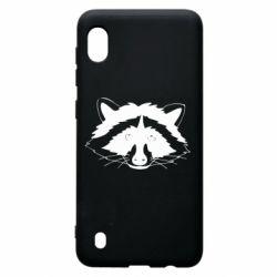 Чохол для Samsung A10 Cute raccoon face