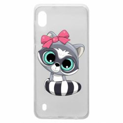 Чехол для Samsung A10 Cute raccoon