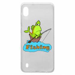 Чехол для Samsung A10 Fish Fishing
